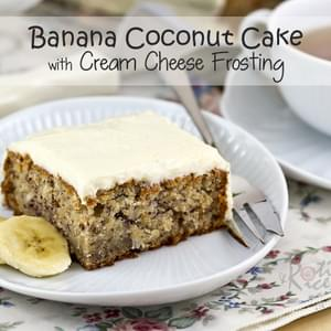 Banana Coconut Cake with Cream Cheese Frosting