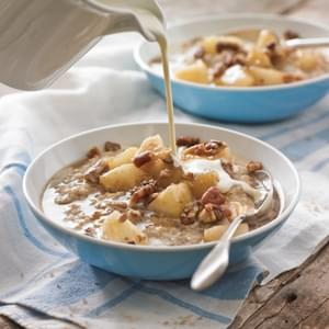 Steel-Cut Oats with Honeyed Pears and Glazed Pecans