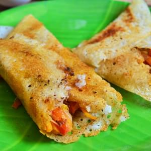 Vegetable masala dosa recipe | How to make restaurant style vegetable masala dosa