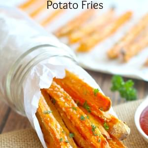 Baked Crispy Sweet Potato Fries (Gluten Free Egg Free)