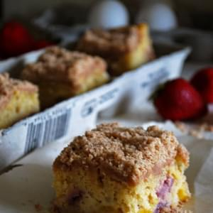 Strawberry and Peach Cornmeal Coffee Cake