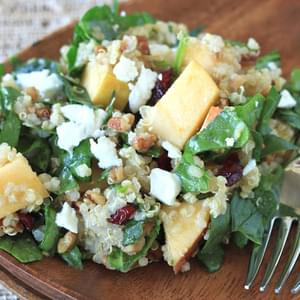 Apple, Pecan, and Goat Cheese Quinoa Salad