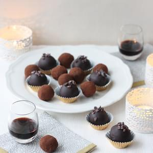 Wild Blueberry and Blackcurrant Cream Truffles