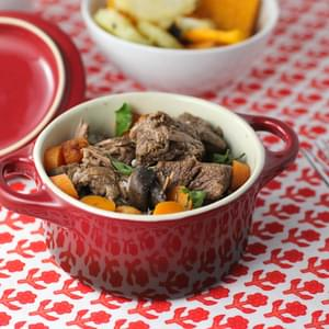 Easy Slow Cooker Beef Bourguignon