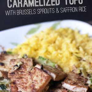 Caramelized Tofu with Brussels Spouts
