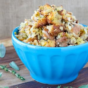 Apple Sage Sausage Stuffing