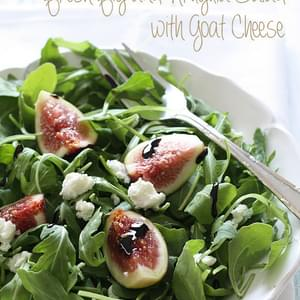 Fresh Fig & Arugula Salad with Goat Cheese