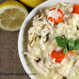 Greek Lemon Rice Soup with Chicken
