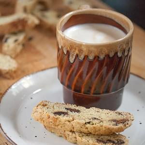 Fig and Black Pepper Biscotti