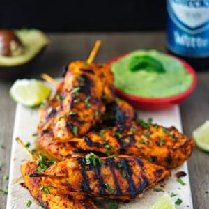 Chipotle Honey-Glazed Chicken with Avocado Cream Sauce