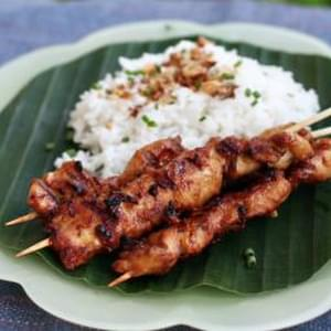 Lemongrass-marinated Chicken Satay