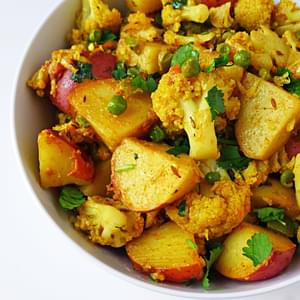 Aloo Gobi; Potato & Cauliflower
