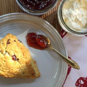 Cook Book Review – Scones on parchment paper