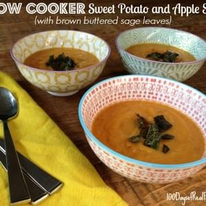 Slow Cooker Sweet Potato and Apple Soup