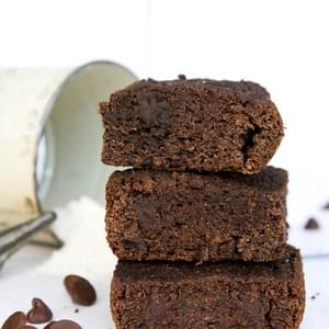 Gluten Free Chocolate Chip Beet Brownies