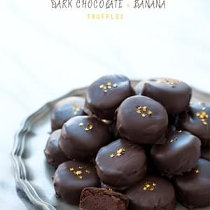 Dark Chocolate and Banana Truffles