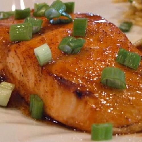 Broiled Honey- Lime Glazed Salmon Fillets