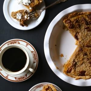 Bourbon Pumpkin Pie with Cinnamon Pecan Streusel