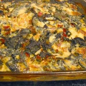 Swiss Chard and Root Veggie Gratin