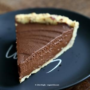 Vegan Chocolate Pumpkin Pie