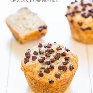 Banana Zucchini Chocolate Chip Muffins (vegan)