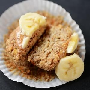 Banana Almond Meal Muffins (Gluten Free + Vegan Optional)