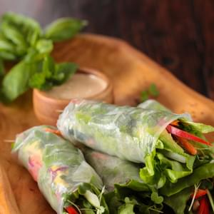 Vietnamese Spring Rolls with Orange Almond Sauce