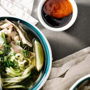 Chicken Pho with Zucchini Noodles