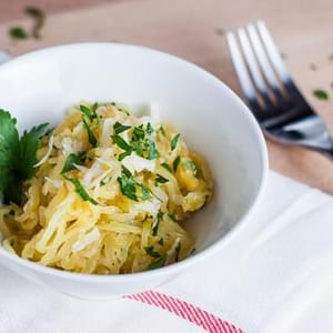 Spaghetti Squash with Garlic and Parmesan