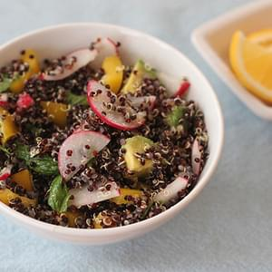 Black Quinoa Salad with Radish and Avocado