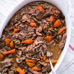 Beef and Mushroom Pot Roast (a Slow Cooker Recipe)