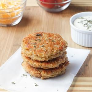 sun-dried Tomato and Mozzarella Quinoa Burgers