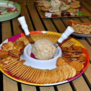Jalapeno Bacon Cheddar Cheese Ball for a Holiday Party