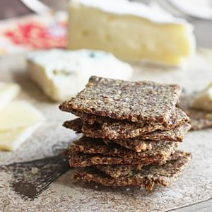 Rosemary & Sea Salt Flax Crackers (Low Carb and Gluten Free)