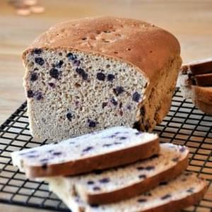 No-Knead Whole Wheat Cinnamon Blueberry Bread