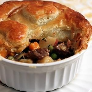 Individual Puff Pastry Beef Pot Pies