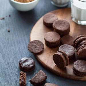 Chocolate Sandwich Cookies with Chocolate Cream Filling (Gluten-Free, Grain-Free, Vegan, Paleo Friendly)