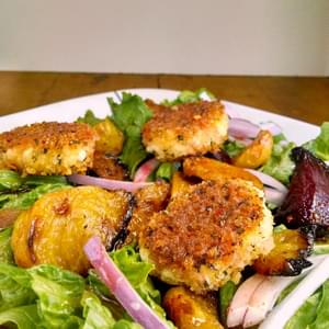 Roasted Beet and Crispy Goat Cheese Salad