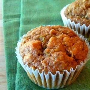 Whole Wheat Zucchini Nut Muffins