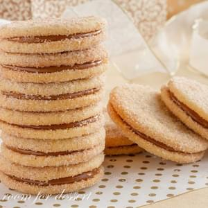 Dulce de Leche Sandwich Cookies with Cinnamon and Cardamom