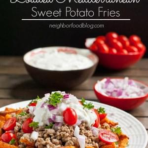 Loaded Mediterranean Sweet Potato Fries with Tzaziki Sauce