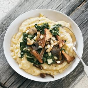 Polenta with White Cheddar, Chard & Wild Mushrooms