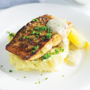 Recipe Room  »  Pan-fried kingfish with creamy mashed potatoes