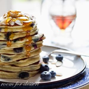 Blueberry Greek Yogurt Pancakes