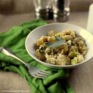 Butternut Squash Risotto with Brussels Sprouts and Sage
