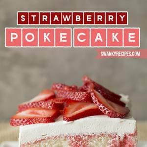 Strawberry Jello Poke Cake Calories