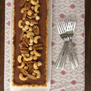 Chocolate Mousse Tart with Glazed Nuts