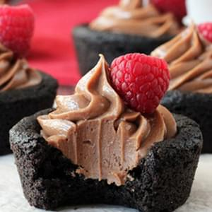Nutella Cheesecake Chocolate Cookie Cups