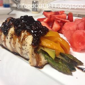Veggie Chicken Roll-Up with Balsamic Glaze!