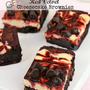 Gluten-free Red Velvet Cheesecake Brownies